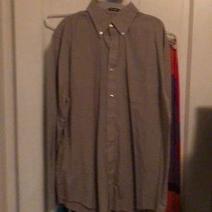 Van Heusen men's light brown dress shirt 15-15.5